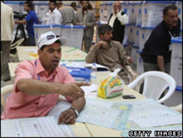 فرز الأصوات في العراق