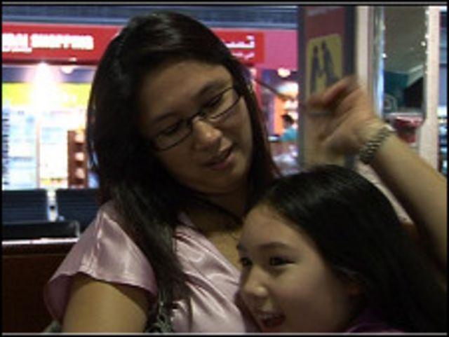 زوجة كيفين وابنته