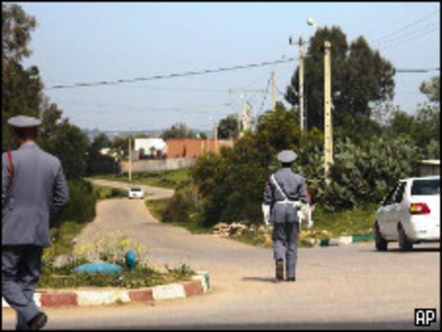 الطريق المؤدي إلى قصر الشيخ احمد جنوبي الرباط