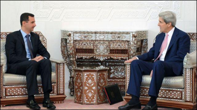 الأسد يستقبل كيري في دمشق الخميس