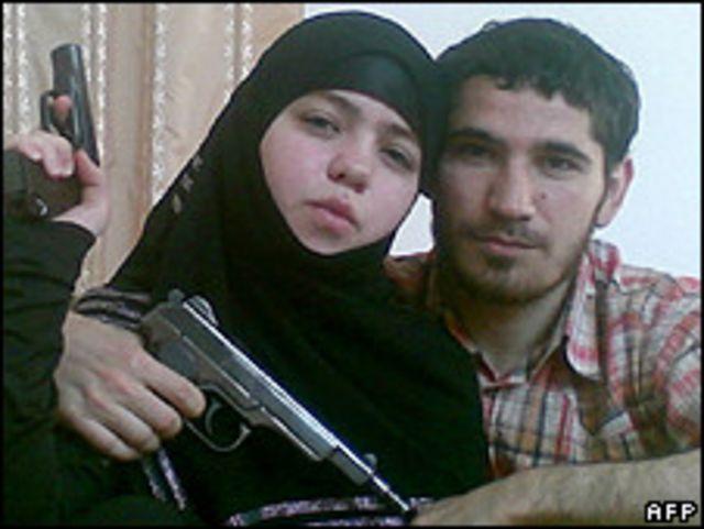 الأرملة المتهمة بتفجير موسكو مع زوجها