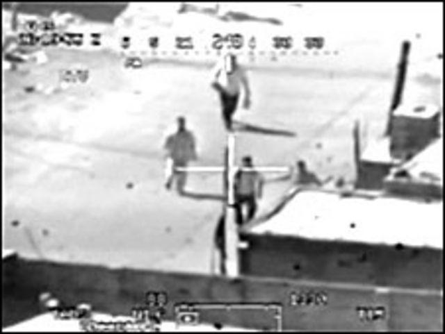 فيديو قتل مدنيين بطائرات امريكية في بغداد
