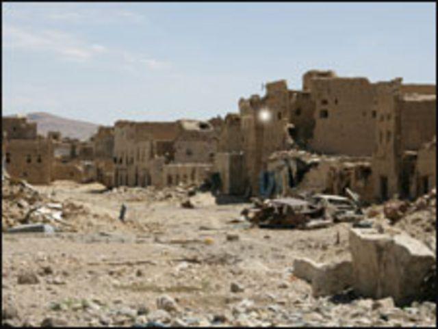 دمار من حرب شمال اليمن