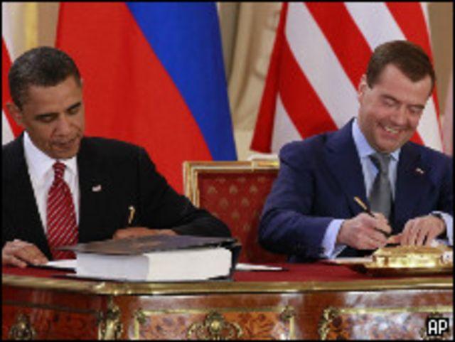 اوباما ومدفيديف