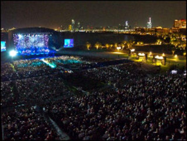 الحضور في مهرجان ابوظبي