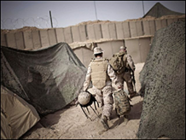 قاعدة كالسيو من القواعد الرئيسية للجيش الامريكي في وسط العراق