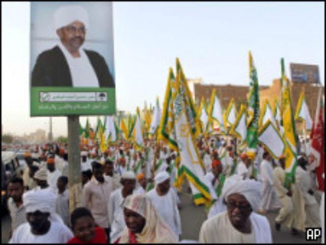 مسيرة للطرق الصوفية تؤيد البشير