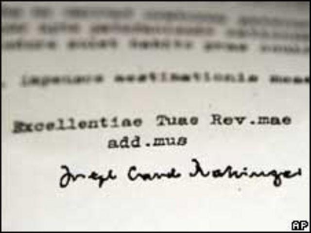 رسالة الكاردينال راتزينجر