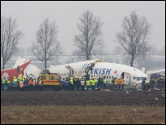 حادث طائرة تركية من طراز بوينج