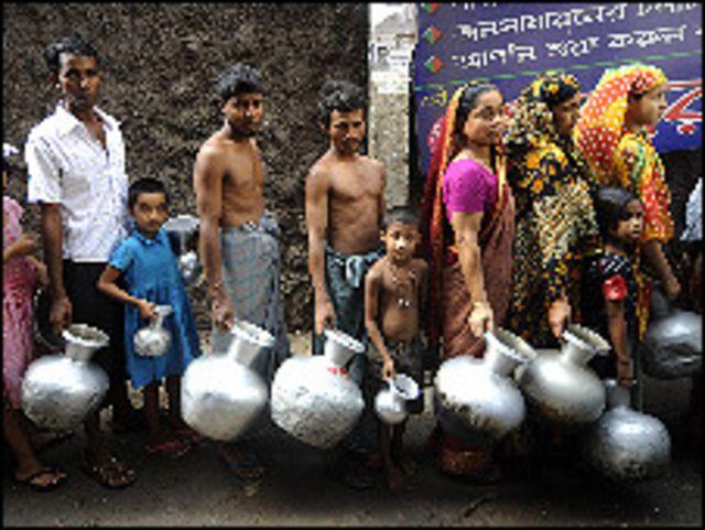 شحة المياه في بنغلاديش