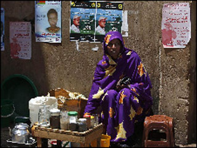 بائعة شاي في الخرطوم