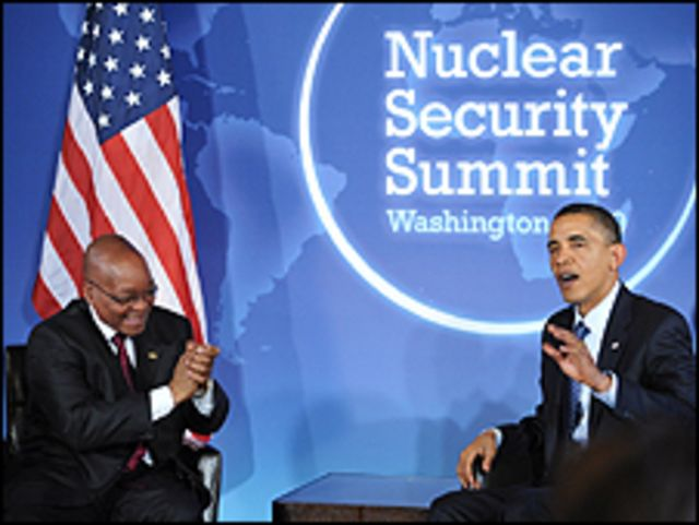 باراك اوباما وجاكوب زوما