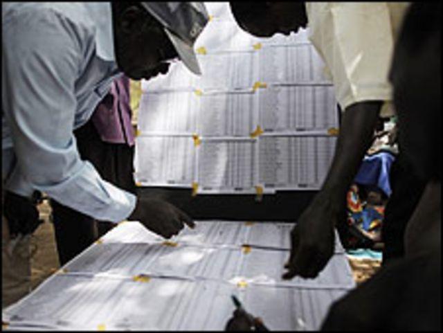 تصويت في انتخابات السودان