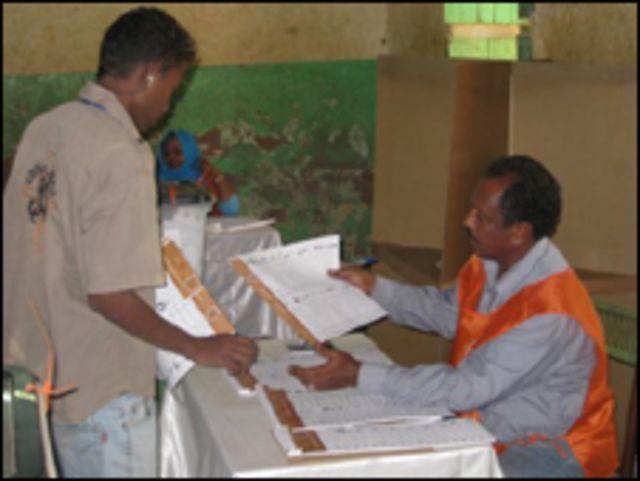 مكتب انتخابي في الخرطوم