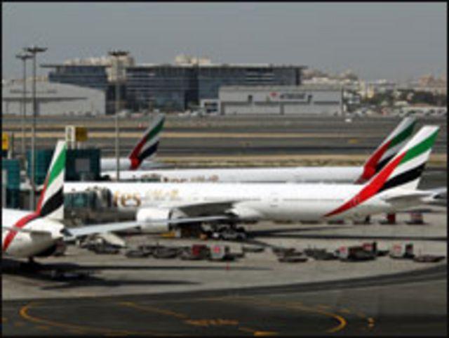 طيران الامارات في مطار دبي