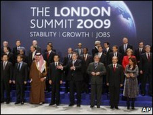 قمة مجموعة العشرين في لندن