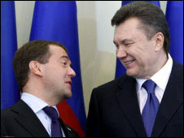 الرئيسان الاوكراني والروسي