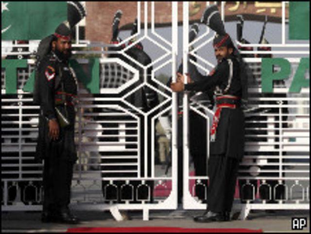 الجانب الباكستاني من نقطة واجاه الحدودية مع الهند