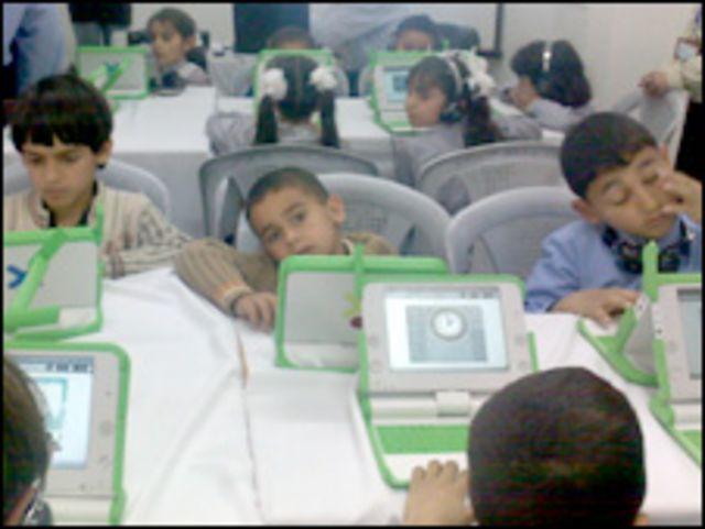 كمبيوترات محمولة في غزة