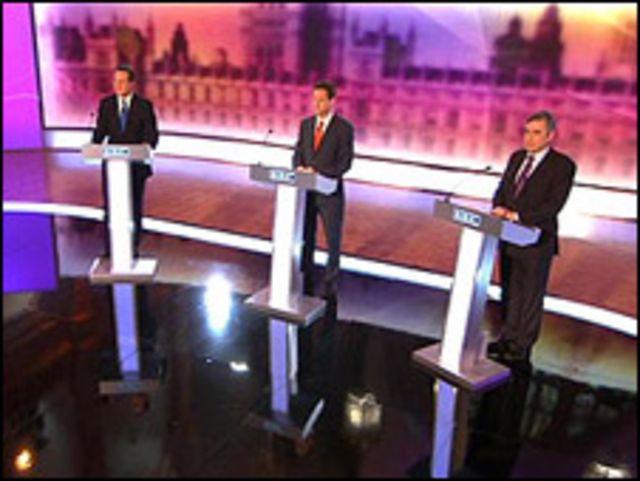 القادة الثلاثة في المناظرة