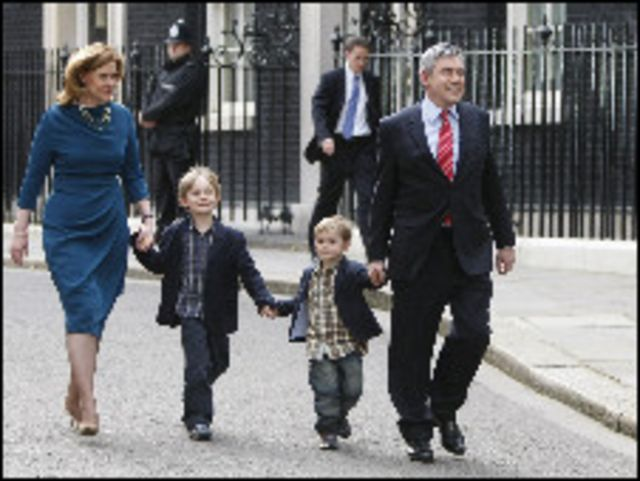 براون وعائلته