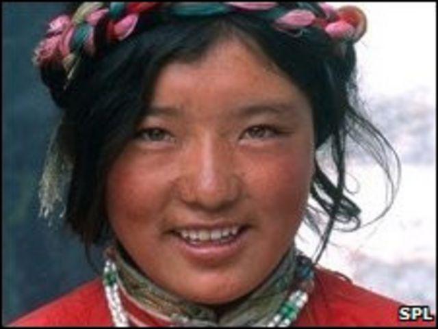 Seorang warga Tibet