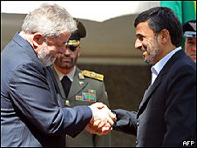 الرئيسان الإيراني والبرازيلي