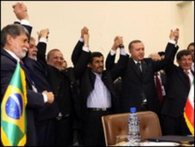 زعماء ايران وتركيا والبرازيل