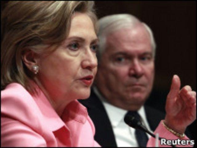 هيلاري كلينتون أمام لجنة مجلس الشيوخ