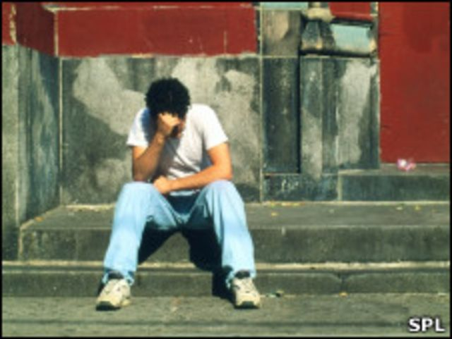 Депрессивный молодой человек