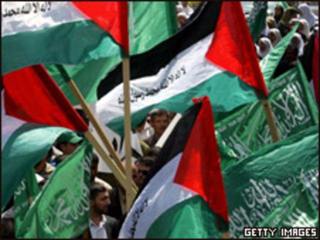 أعلام حماس في غزة