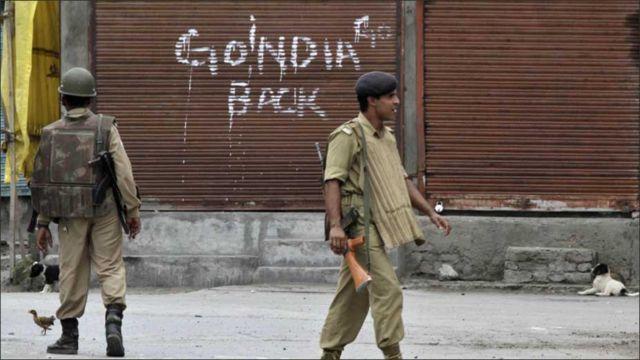 اس مرتبہ مظاہرین کا سب سے مقبول نعرہ 'گو انڈیا گو بیک' رہا ہے