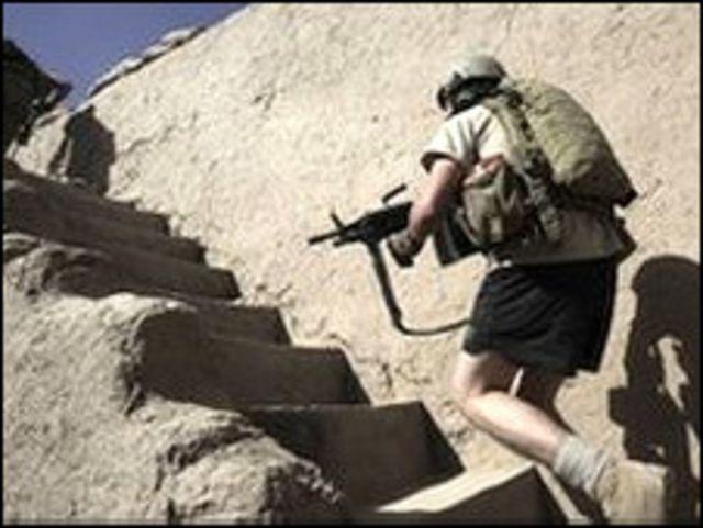 在阿富汗的美軍士兵