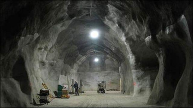 Excavación del laboratorio SNOLAB en Ontario