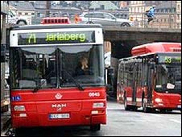 Buses en Estocolmo.