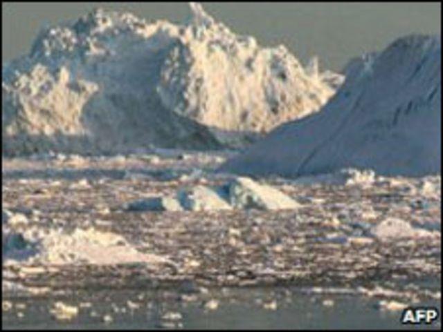 Glacier en Groenlandia