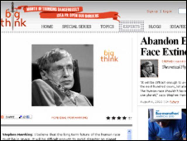Stephen Hawking, científico británico. Foto cortesía: Big Think