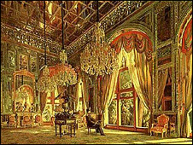 ناصرالدین شاه در تالار آینه، اثر مشهور کمالالملک