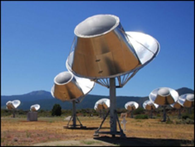 Telescópio do Seti, na Califórnia