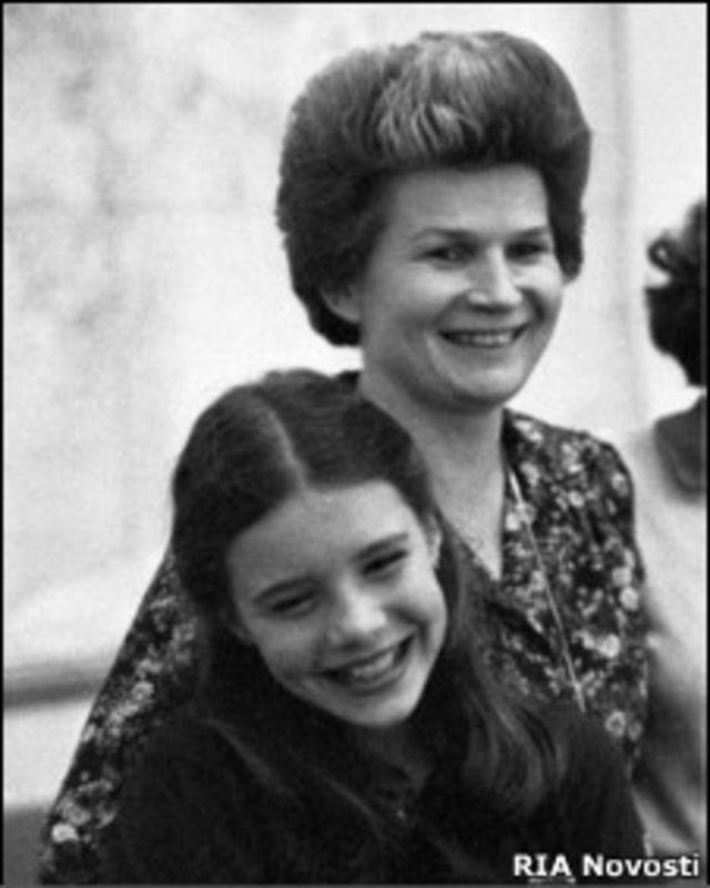 Саманта Смит с Валентиной Терешковой