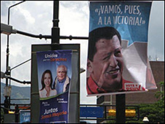 Afiches electorales en Venezuela