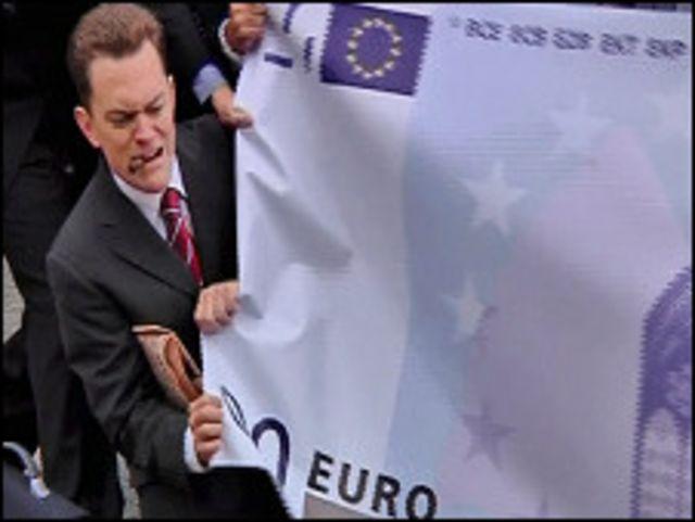 Protesta contra el euro