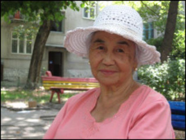 Киргизская пенсионерка Дамира Чокоева