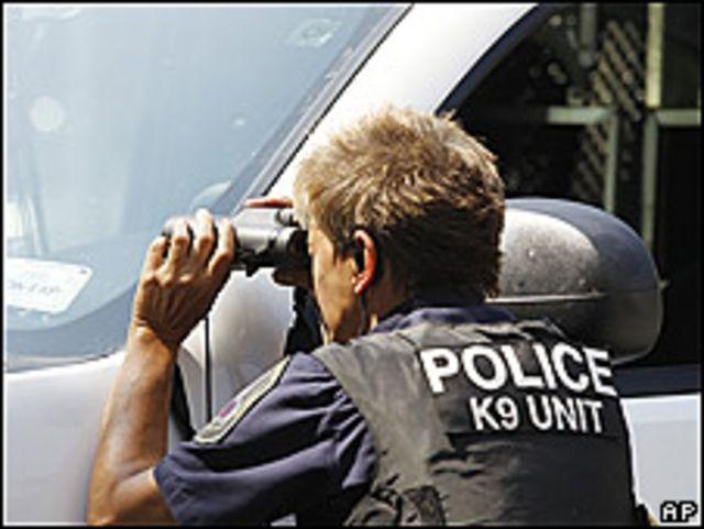 Policía en Maryland, Estados Unidos