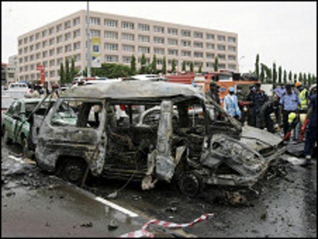 بمب ها در مقابل دادگاه فدرال واقع در پایتخت نیجریه منفجر شده است