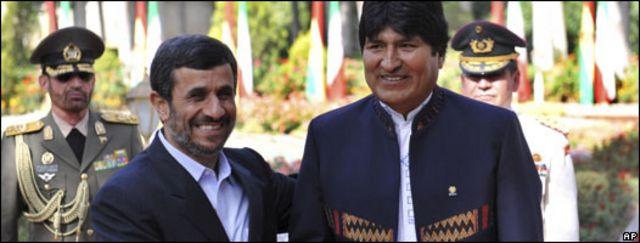 Ahmadinejad y Morales