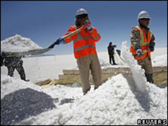 Explotación de litio en Uyuni