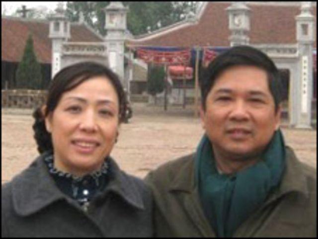 Luật sư Nguyễn Thị Dương Hà và chồng, tiến sĩ luật Cù Huy Hà Vũ