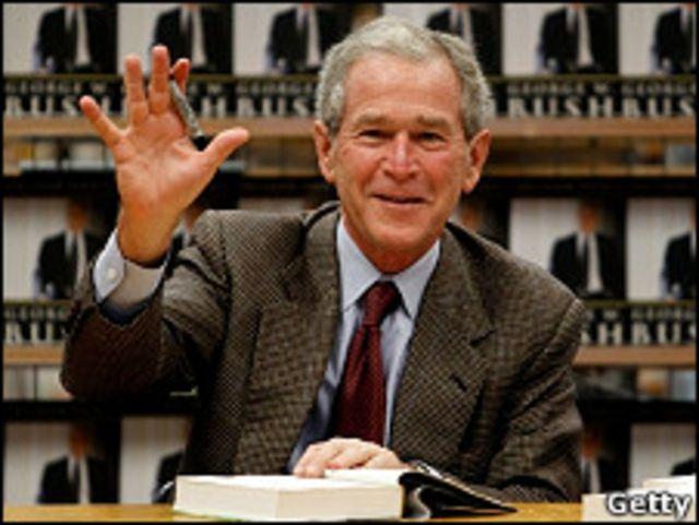 Manifestantes en contra de George W. Bush