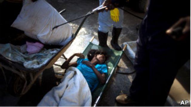 Haiti'de kolera hastaları